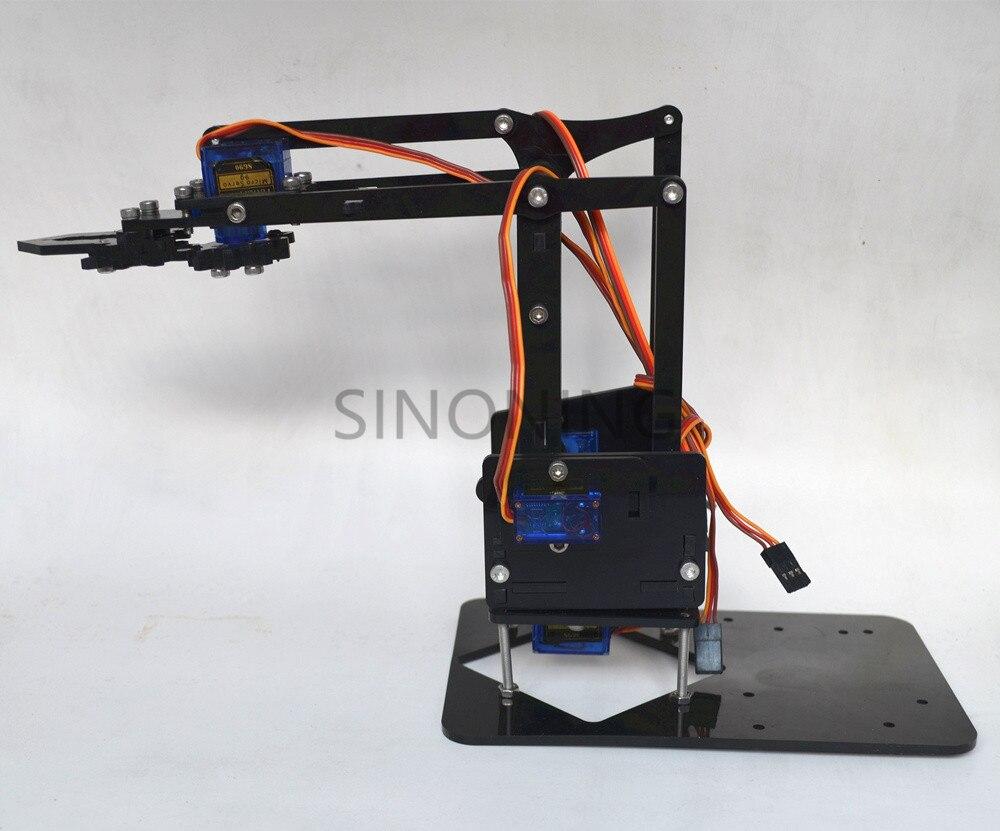 Acrylic Mechanics Handle Robot Robotic 4 Dof Arm For Arduino Created Learning Kit Sg90 #2