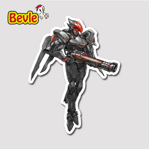 Bevle 9106 OW Shooting Game Pharah Fashion Stickers Geezer Notebook Waterproof Tide 3M Sticker Fridge Skateboard