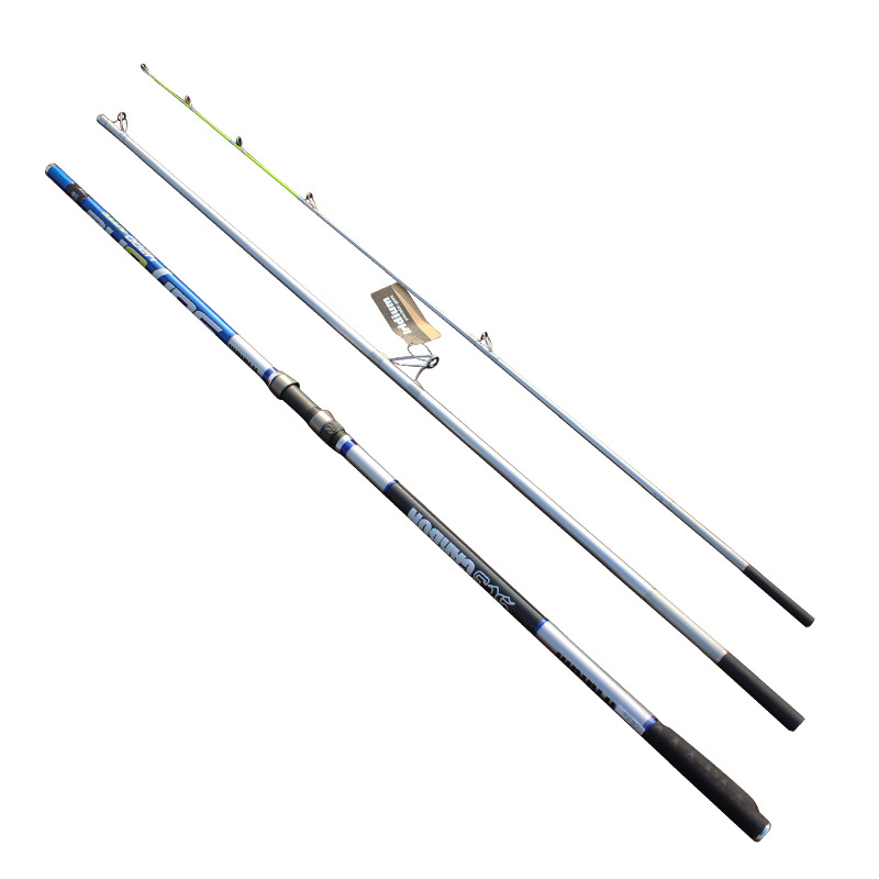 4.2m Heavy duty boat fishing rod super hard raft saltwater jigging carbon trolling fishing pole rod test weight 45kg B022 ucok 1pcs pack 1 65 1 85m double sections heavy pound no 80 heavy jigging fishing boat rod super drag big game type carbon rod