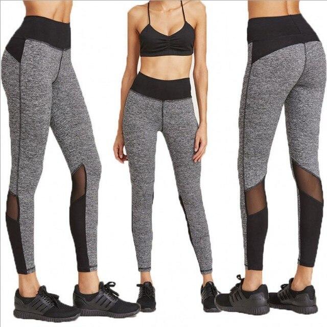 8a6591905bc8b Hot sale mesh splice fitness leggings trousers for women athleisure 2017  jeggings black slim legging pants female elastic 3024