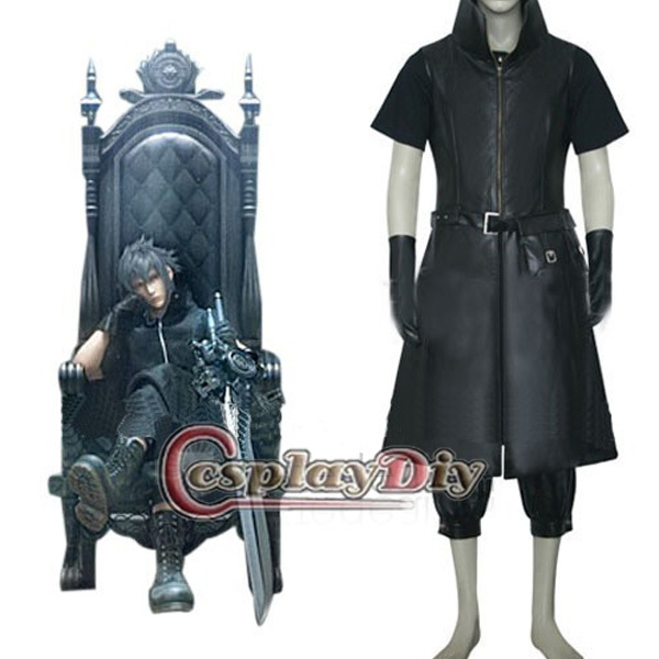 Final Fantasy Versus XIII Noctis Lucis Caelum Noir Cosplay Costume Ensemble Complet Pour Adulte Hommes Custom