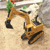 Construction Vehicles Simulation Remote Control Crawler Excavator Model RC Truck Engineering Heavy Machinery Toy Boys Game Gifts