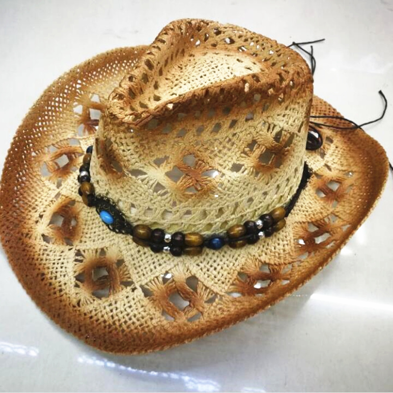 Energetic 2019 Women Men Straw Sun Hat With Bull Head Band Star Lady Dad Handmade Weave Sombrero Hombre Cowboy Jazz Caps Size 58cm Apparel Accessories