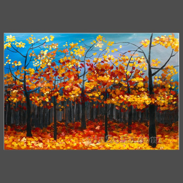 Fall Forest Abstract Contemporary Huge Original Oil Landscape Painting Nature Decor Fine Art By Tim Oil Paintingbuy Directly In Painting Calligraphy