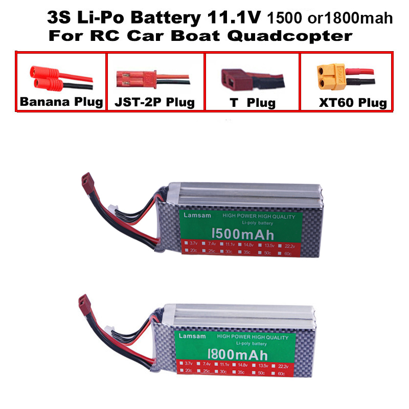 3S 11.1V 1800MAH/1500mah T/XT60 Remote control model aircraft battery manufacturers Lithium Polymer 3S Li-po 11.1V battery(China)