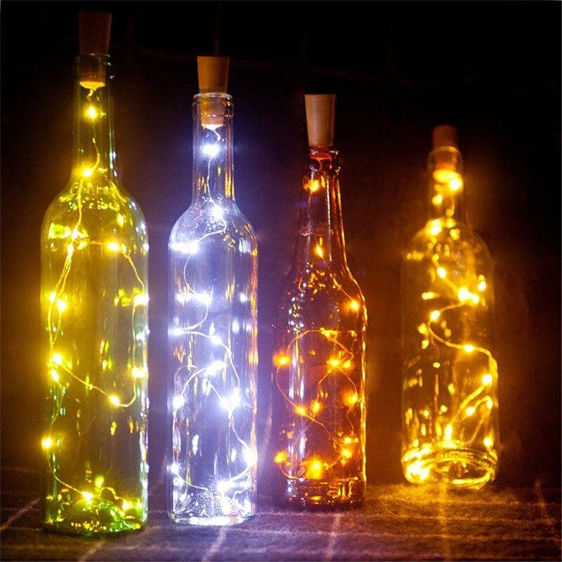 Iluminação da Novidade vinho de vidro fio de Estilo : Silver String Lights