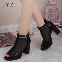 цена на Fashion New Womens Platform Pumps Summer High Heels Peep Toe Sandals Shoes Lady aa0525