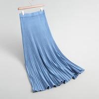2018 Autumn women skirts casual solid color knit skirt split design