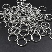 Fltmrh 50 pces 12mm x 1.2mm laço de ligação bronze/si lver/ouro/ródio anéis de salto aberto & anel rachado para diy jóias descobertas conector