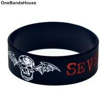 1 шт. браслет Avenged Sevenfold из силиконовой резины, широкий черный 1 дюйм