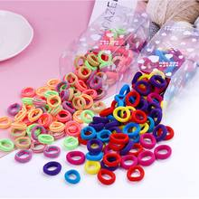 100PCS/Lot 3.0CM Children Cute Elastic Hair Band Small Ring Rubber Bands Tie Gum Ponytail Holder Girls Headband Hair Accessories(China)