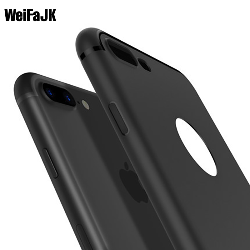 WeiFaJK Phone Case for iPhone 5s 5 SE Cover Fashion Matte Back Silicone Soft Cases for iPhone 7 7s 6 6s 8 Plus Case Full Coque