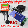 Free shipping GSM-KEY-DC200 GPRS server support Two relay output and two alarm input port GSM gate opener