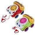 Crianças Fone Colorido Divertido Brinquedo Música Telefone Básico Conversas Telefônicas Brinquedos Telefone de Brinquedo para o Bebê Andando Assistente KK5BO