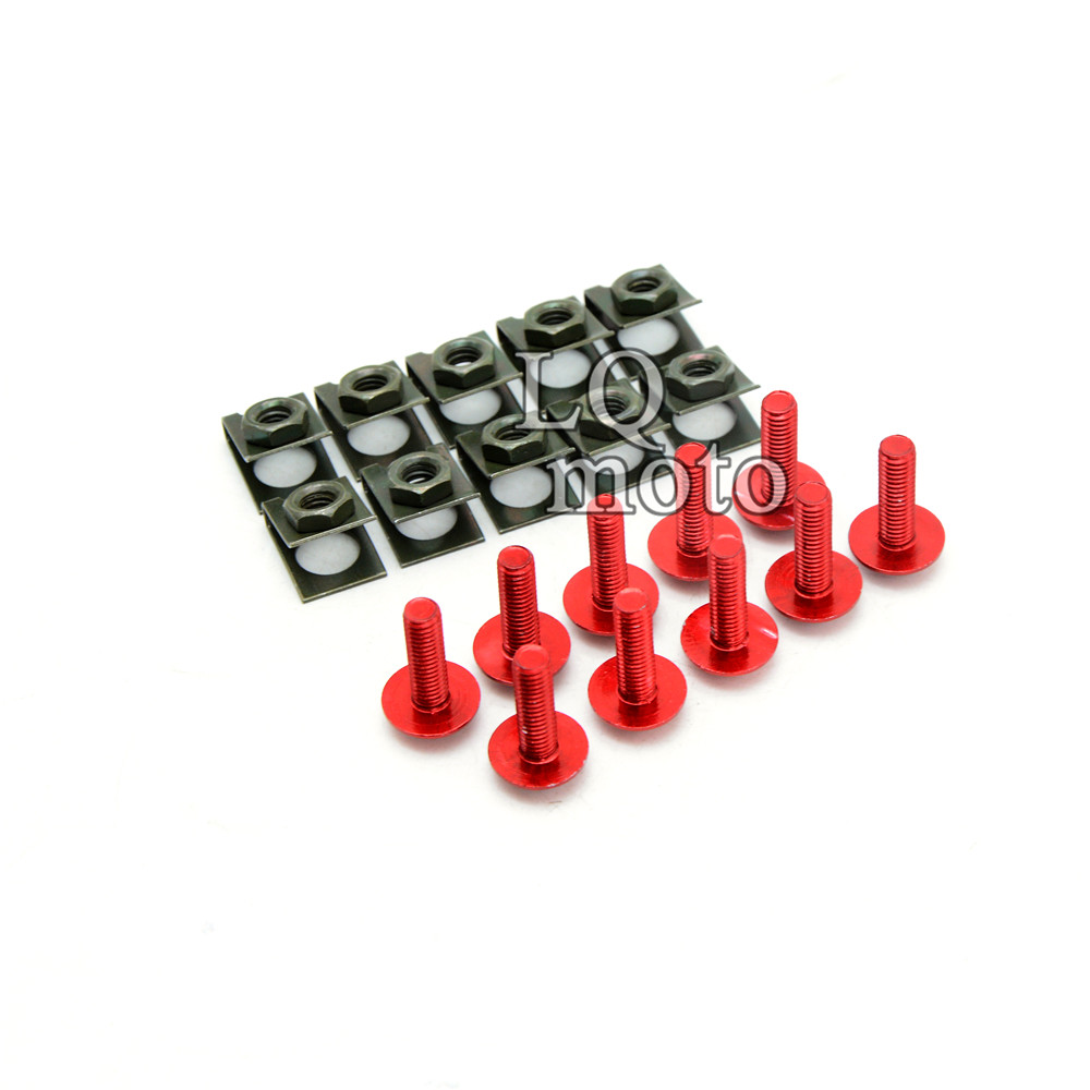 6mm CNC motorcycle Scooter body Spire fairing Spring Clips Nuts bolts screws For honda KAWASAKI ZX10R 2004 2005 2006 2007 2008