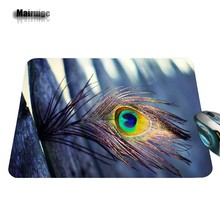 Personalized Luxurious Printing 1 PC of Trendy Purple Feather Personalized aming Consolation Optal Laser Non Slip PC Mouse Pad