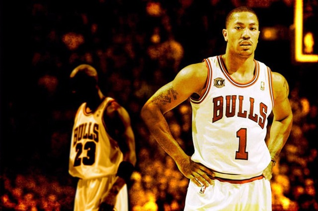 1110 Derrick Rose Basketball Star Wall Sticker Art Poster For Home