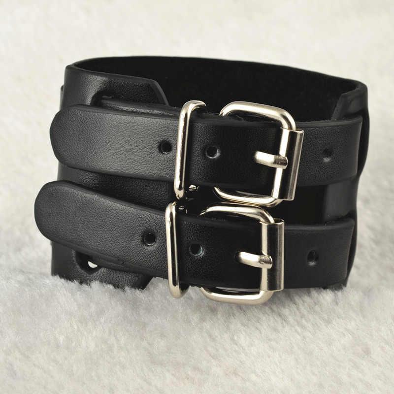 eefbdd3125200 New uomo Leather Men Bracelet Wristband Belt Buckle Unisex Bangle Johnny  Depp Bracelet Men's Bracelets pulseira feminina bangles