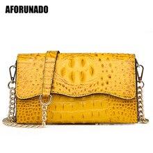 حقيبة يد فاخرة حقائب النساء مصمم التمساح حقائب كتف جلدية الإناث العلامة التجارية الصغيرة رسول حقائب كروسبودي للنساء