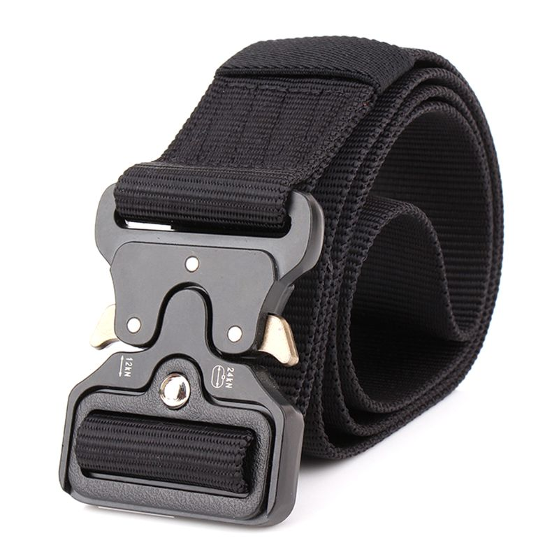 1 Pc Tactical Heavy Duty Mens Belts Military Stylish Metal Army Pants Belts Outdoor Sports Training  Bag