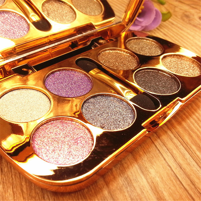 8 cores de flash diamante sombra nude paleta de maquiagem à prova d' água luminosa brilho cosméticos ferramentas de maquiagem dos olhos