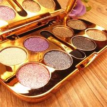 Makeup-Pallete Diamond Eyeshadow Cosmetics Glitter Waterproof 8colors Flash Luminous
