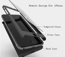 """Full Body Hybrid Tempered Glass Shockproof Armor 3 In 1 Phone Case Cover For iPhone 7 6 6s 4.7"""" Free Shipping"""