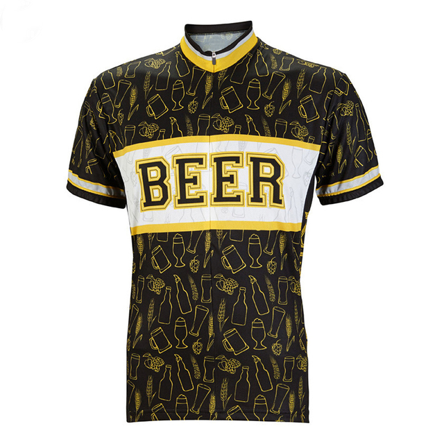 Men Beer cycling jerseys ropa ciclismo short sleeved Cycling clothing classic Bicycling clothes 10 Style Summer bike wear MTB