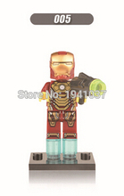 Iron Man Minifigures Marvel Super Heroes The Avengers Building Block Sets Model Bricks Toys For Children