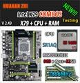 HUANAN ZHI V2.49 X79 moederbord LGA2011 ATX combo E5 1650 V2 SR1AQ 4x8G 32 GB 1866 Mhz USB3.0 SATA3 PCI-E NVME M.2 SSD