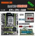 HUANAN ZHI V2.49 X79 motherboard LGA2011 ATX combos E5 1650 V2 SR1AQ 4x8G 32 GB 1866 Mhz USB3.0 SATA3 PCI-E NVME M.2 SSD