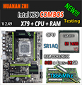 HUANAN ZHI V2.49 X79 scheda madre LGA2011 ATX combo E5 1650 V2 SR1AQ 4x8G 32 GB 1866 Mhz USB3.0 SATA3 PCI-E NVME M.2 SSD
