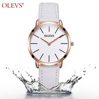 Genuine OLEVS 5868 Luxury Women S Watch Waterproof Leather Ultra Thin Clock Ladies Casual Quartz Watches