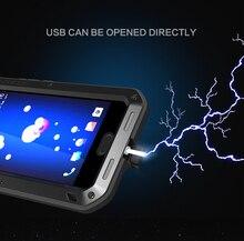 Voor HTC U11 Liefde Mei brand case Voor HTC U11 anti klopte Metalen Aluminium Robuuste met gratis Gehard Gorilla Glas Case Cover