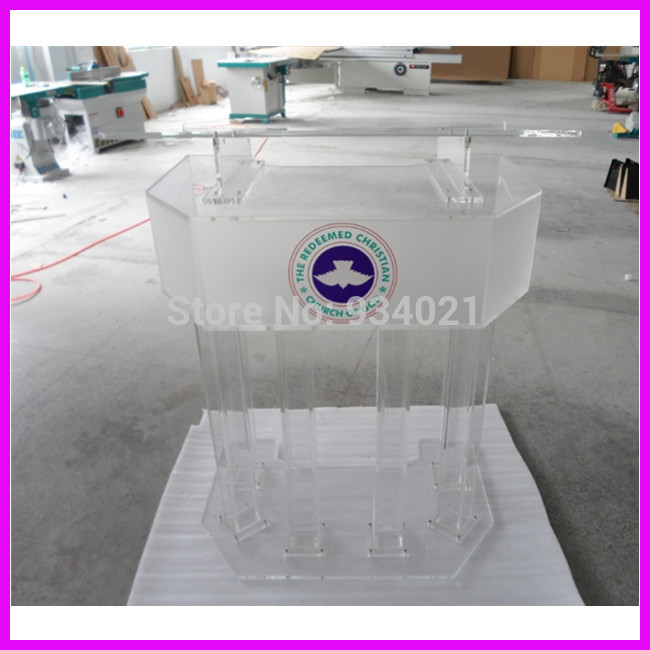 Clear Large Plexiglass Pudium / Acrylic High Grade Lectern Plexiglass