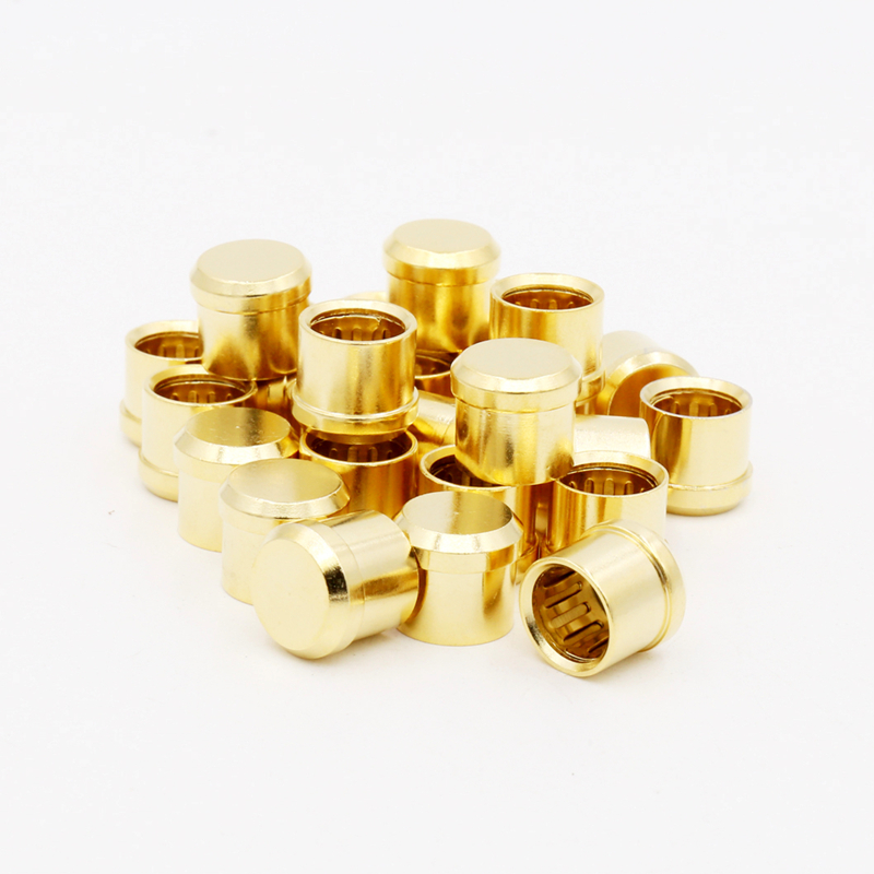 8Pcs  gold plated  Short Circuit Socket Phono Connector RCA Shielding jack socket protect cover caps viborg audio 8pcs rhodium gold plated rca socket phono chassis female hifi amp