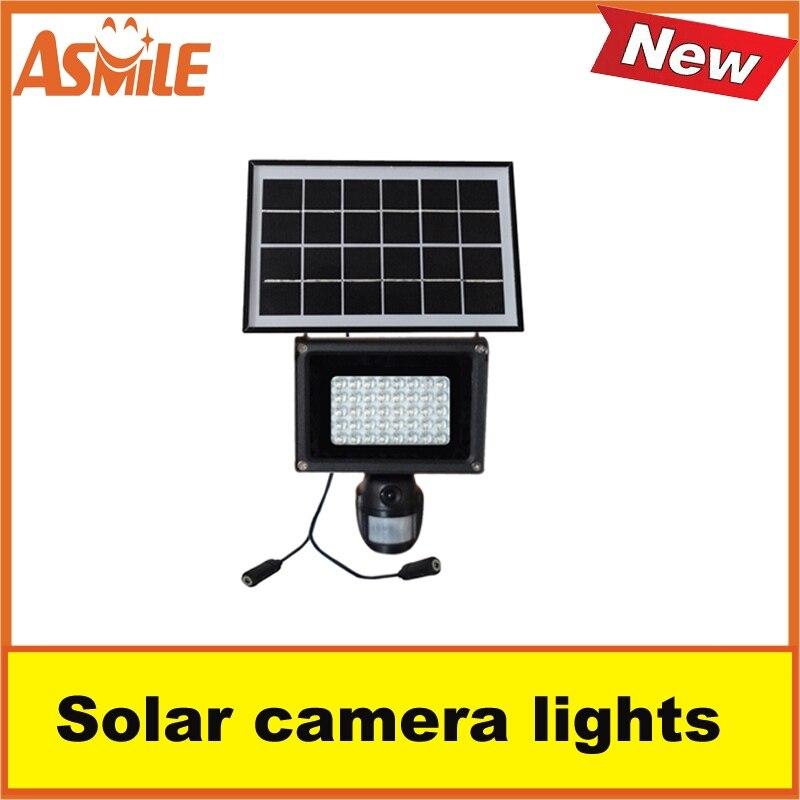 Nouveau produit lampe de sécurité extérieure caméra 40 pièces blanc LED perle panneau solaire lumière d'asmile