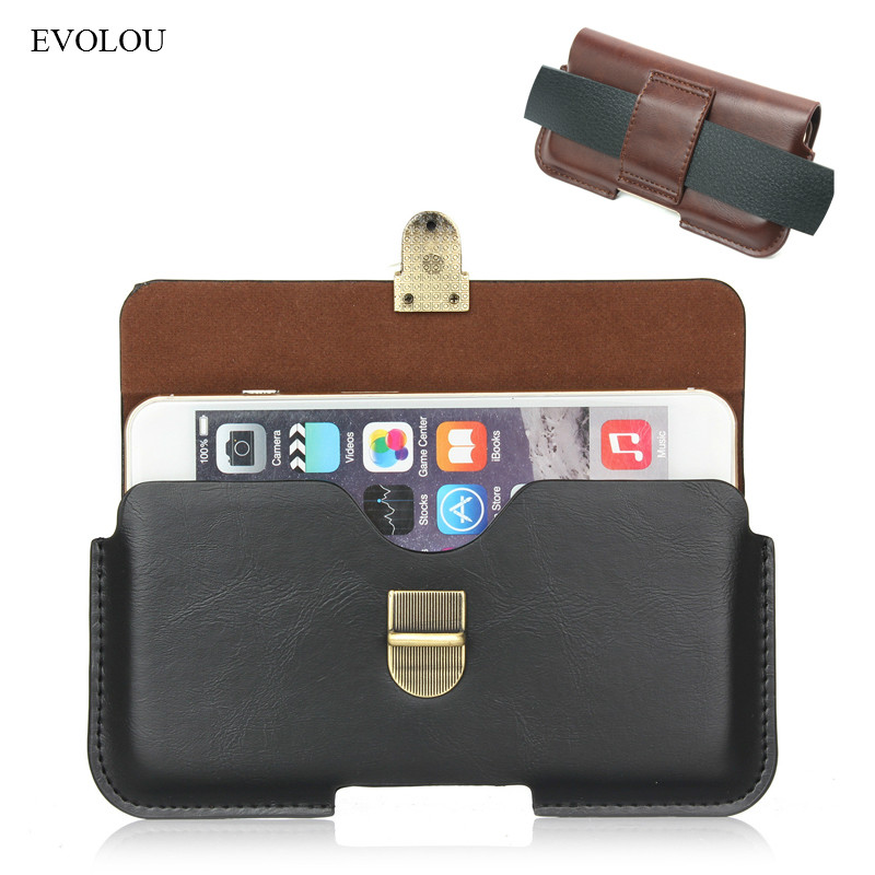 Belt Clip Cover for Oukitel C8 Phone Bag for Oukitel K3 C5 Pro U20 Leather Case for Leagoo Kiicaa Power / Mix Cover M8 M5 Case