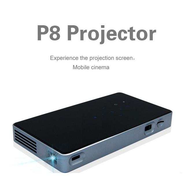 Nueva DLP Mini Proyector Casero 854*480 WIFI Inteligente edición Bluetooth 4.0 HDMI Proyector Portátil Led Quad-core ARM Cortex-A7 CPU