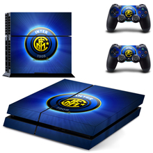 Inter Milan Football Team PS4 Skin Sticker Decal Vinyl for Sony Playstation 4 Console and 2 Controllers PS4 Skin Sticker