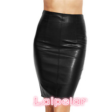Laipelar PU Leather Bodycon Women Skirts 2018 Female Sexy Clothing Autumn Winter Punk High Street Stylish Black Midi Skirt