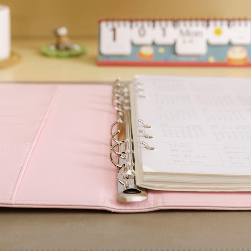 Macaron kulit spiral notebook Asli kantor pribadi diary / minggu - Notebook dan menulis bantalan - Foto 4