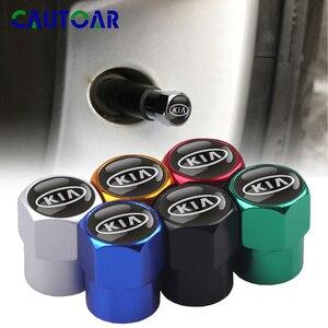 Image 1 - Cubiertas de válvula de neumático de Metal para coche carcasa de vástago para KIA cerato rio ceed sportage sorento k2 k3 k4 k5 k6 Rio 2 3 picanto, 4 Uds.