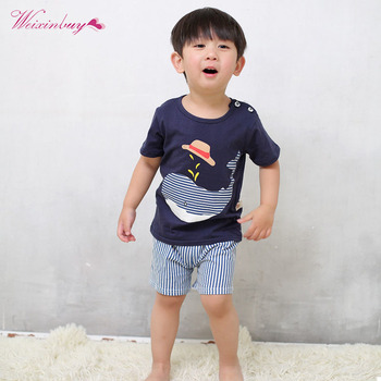 Kid Boys Clothes Summer Toddler Kids cartoon T-shirt+Shorts Suit Children Boy Clothing Sets