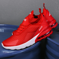 Beautiful Red Sneaker Hot New 270 Air Cushioning Running Shoes Men Casual Outdoor Sport Jogging Comfortable Mesh Breathable Cool