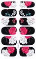 DIY Manicure Tools Nail Wraps Decals Adhesive Nail Art Stickers White And Red Rose Flower Design Acrylic Uv Gel Nail Sticker