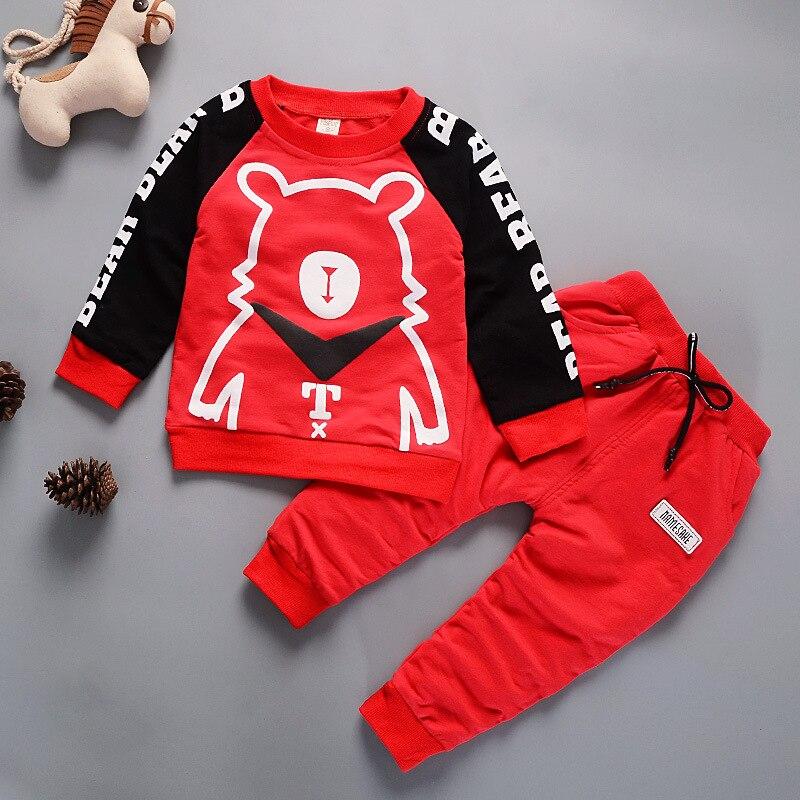 Для маленьких мальчиков Обувь для девочек Весна Осенняя одежда Новый стиль Носки с рисунком медведя из мультика Длинные рукава футболка + б...