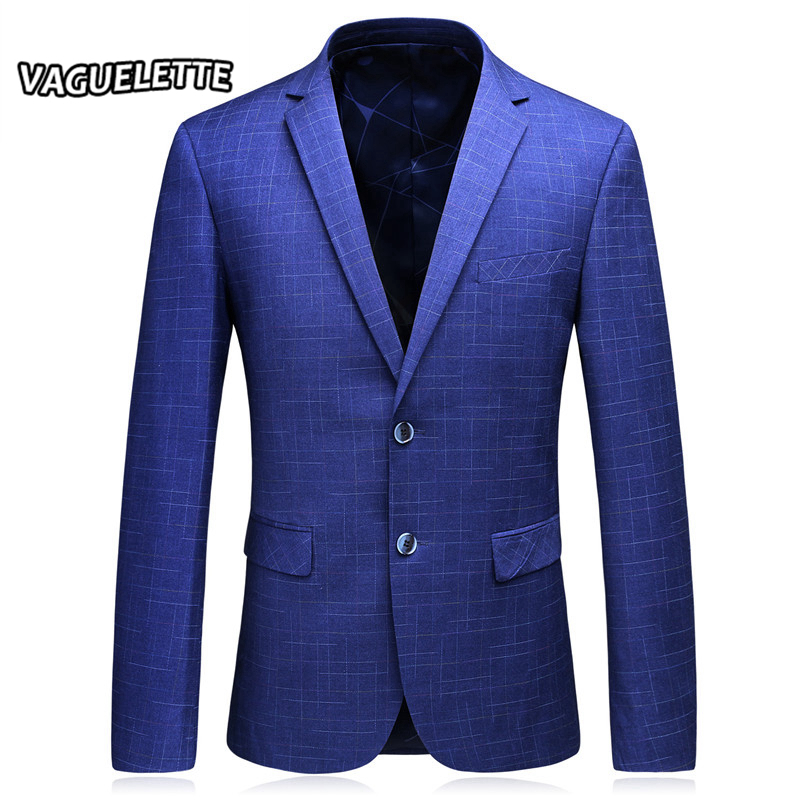 Blazers For Rent: Royal Blue Mens Blazers New Arrivals 2017 Plaid Party Wear