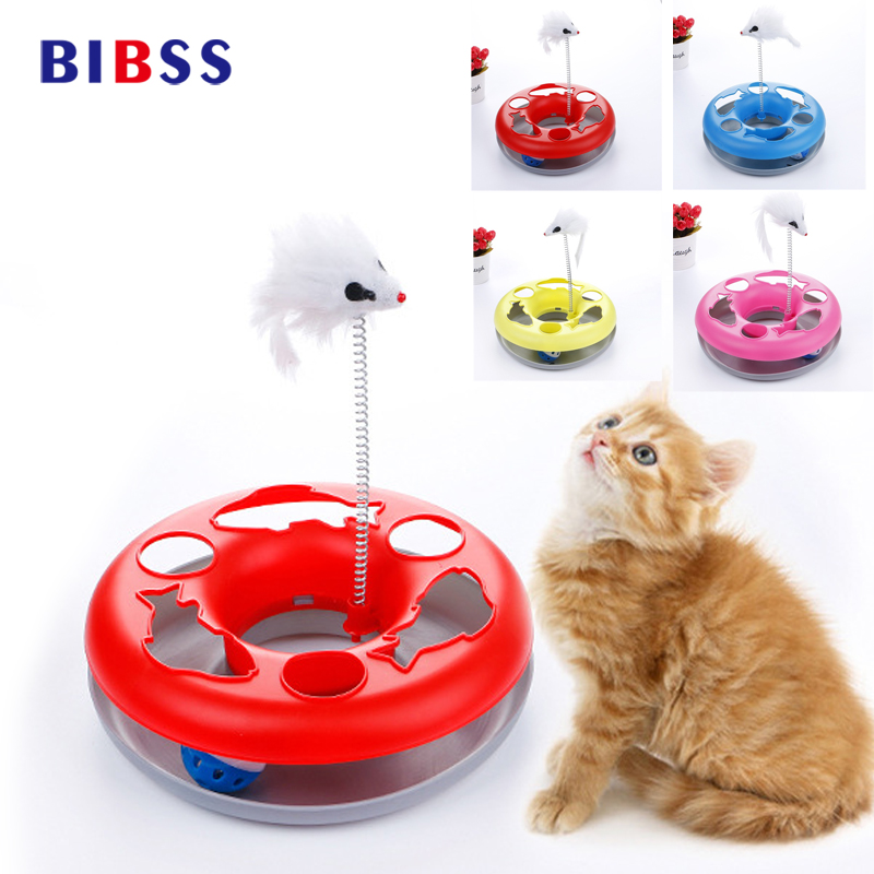 Spring Mice Disk Cat Toy Crazy Amusement Play Funny Activity Interactive Mouse Toys