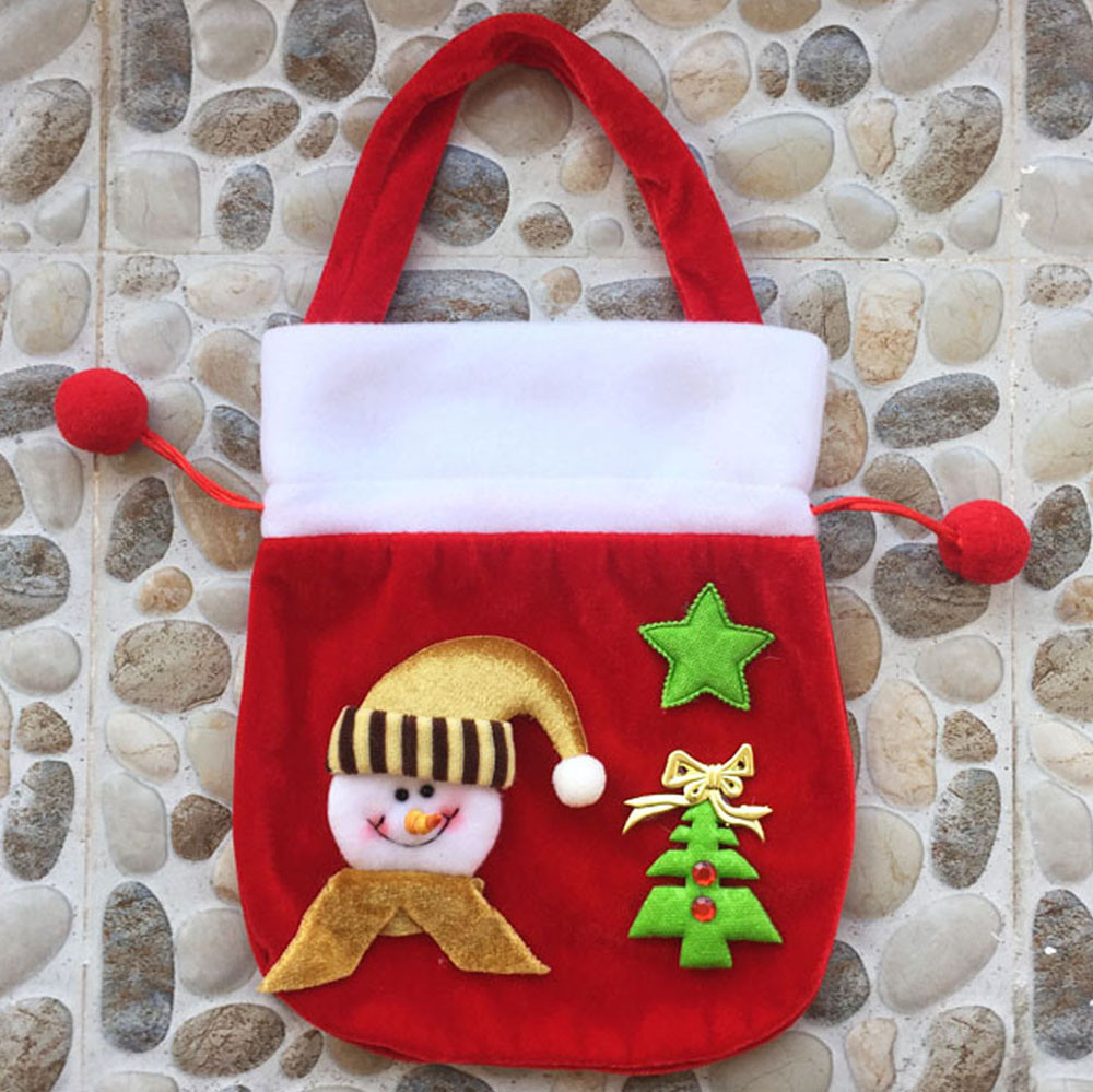 New Style Xmas Decor New Fashion Drawstring Bags  Wedding Home Party Candy Gift Christmas Bag #1
